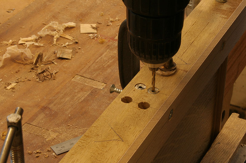 drilling holes for dowels
