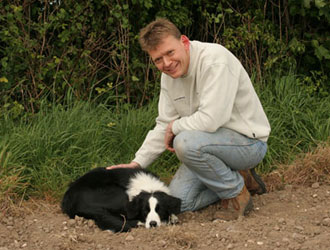 Philip with his border collie